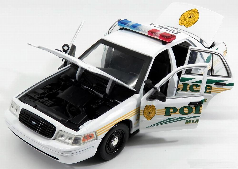 Voiture FORD CROWN VICTORIA POLICE Les Experts MIAMI CSI 1/18