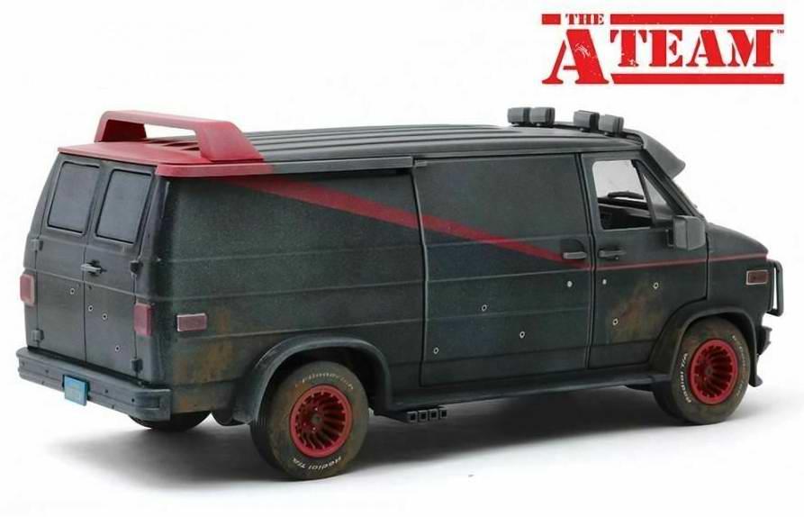 Camionette Agence Tous Risques boueuse sale impacts de balles 1/18 Greenlight