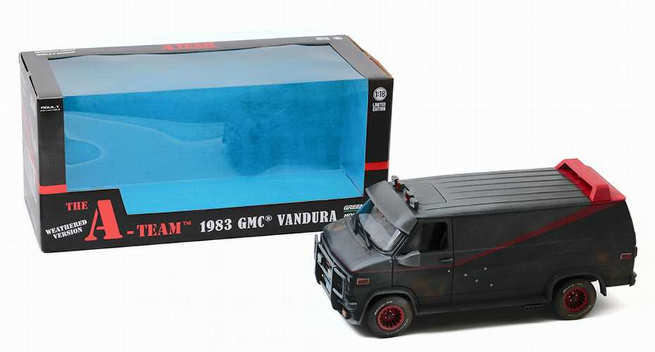 Camionette Agence Tous Risques carosserie percé balles 1/18 Greenlight