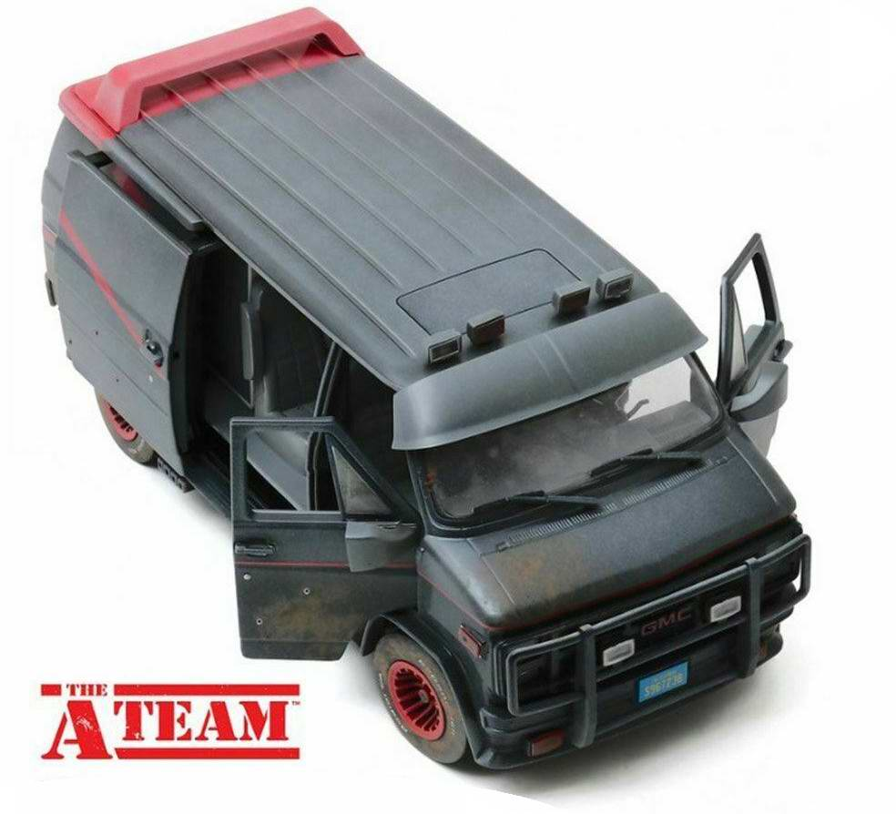 Camionette Agence Tous Risques sale impact balle 1/18 Greenlight