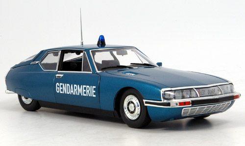 Voiture CITROEN SM Gendarmerie 1974 Bleu Brégançon 1/18