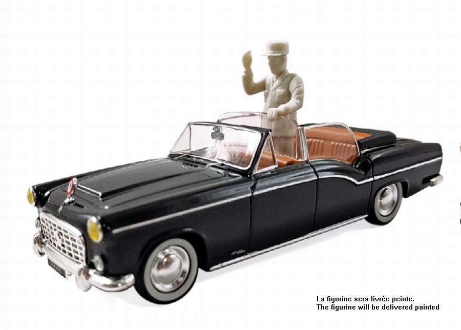 Voiture miniature métal CITROEN 15 CV Chapron Limousine Présidentielle Charles de Gaulle Norev 1/43