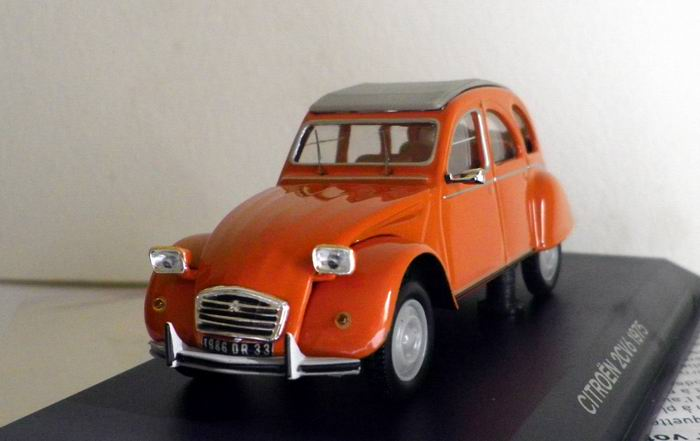 Voiture CITROËN 2CV 6 Orange 1975 - NOREV 1/43