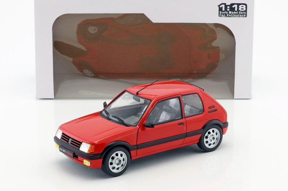 Voiture Miniature PEUGEOT 205 GTI 1.9L de 1985 Rouge Solido 1/18