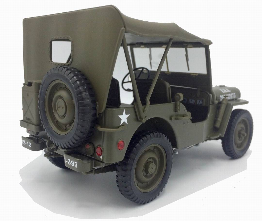 JEEP Willys US Army fermé capote 1/18