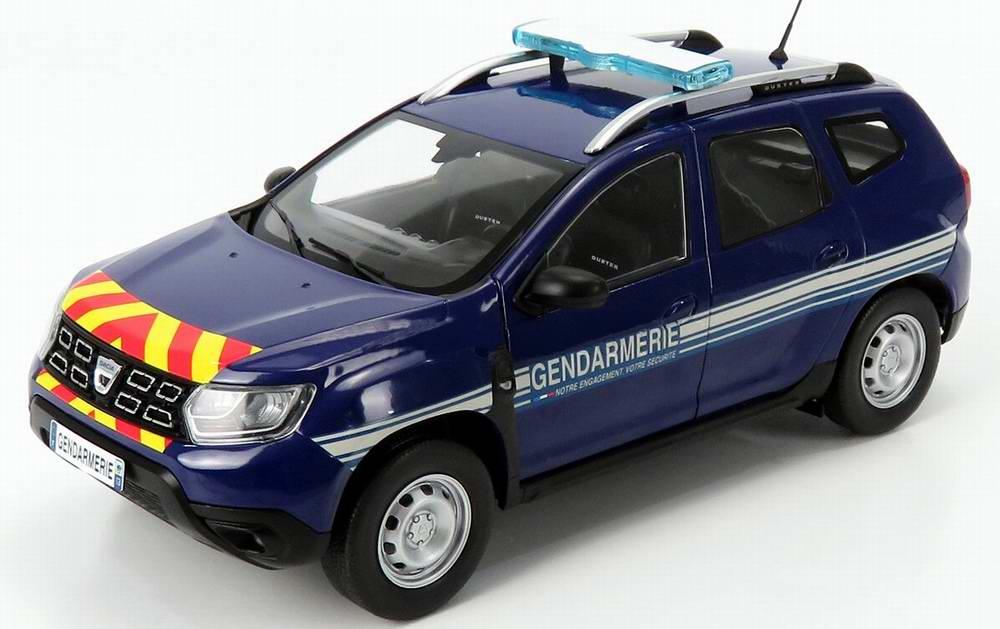 Voiture Miniature Dacia Duster GENDARMERIE NATIONALE 1/18