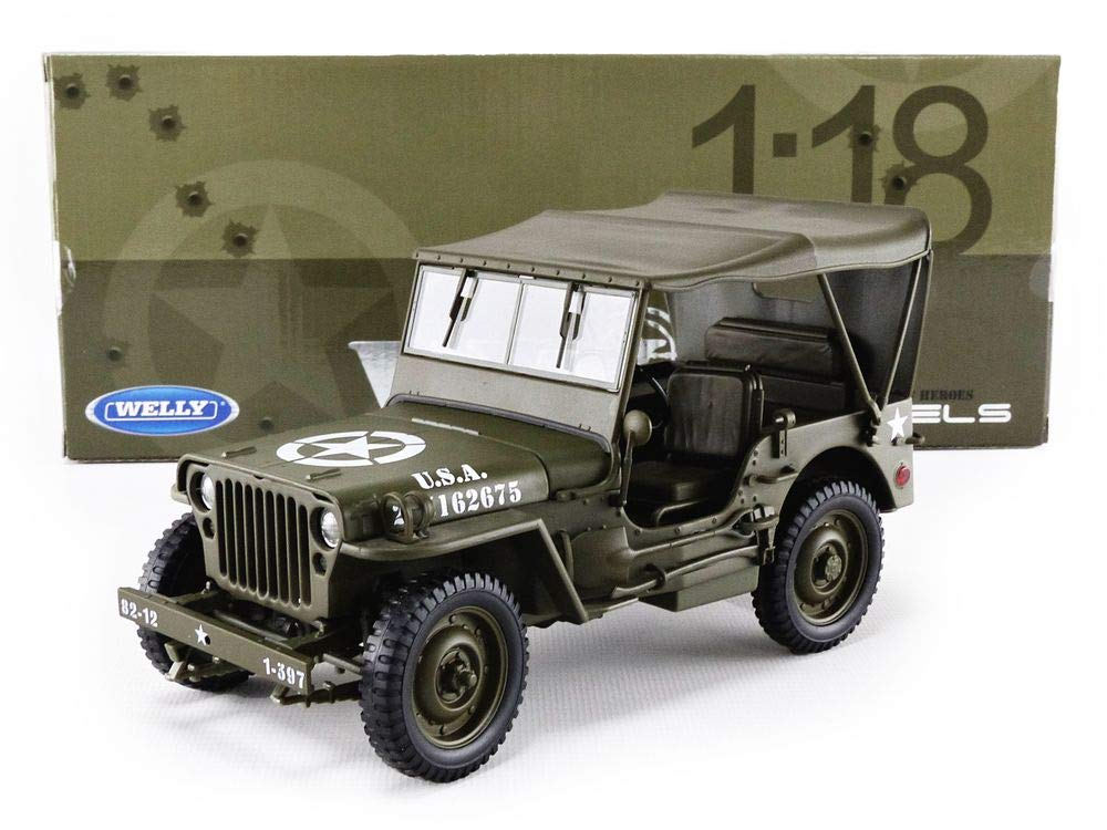JEEP Willys fermé capote US Army 1/18