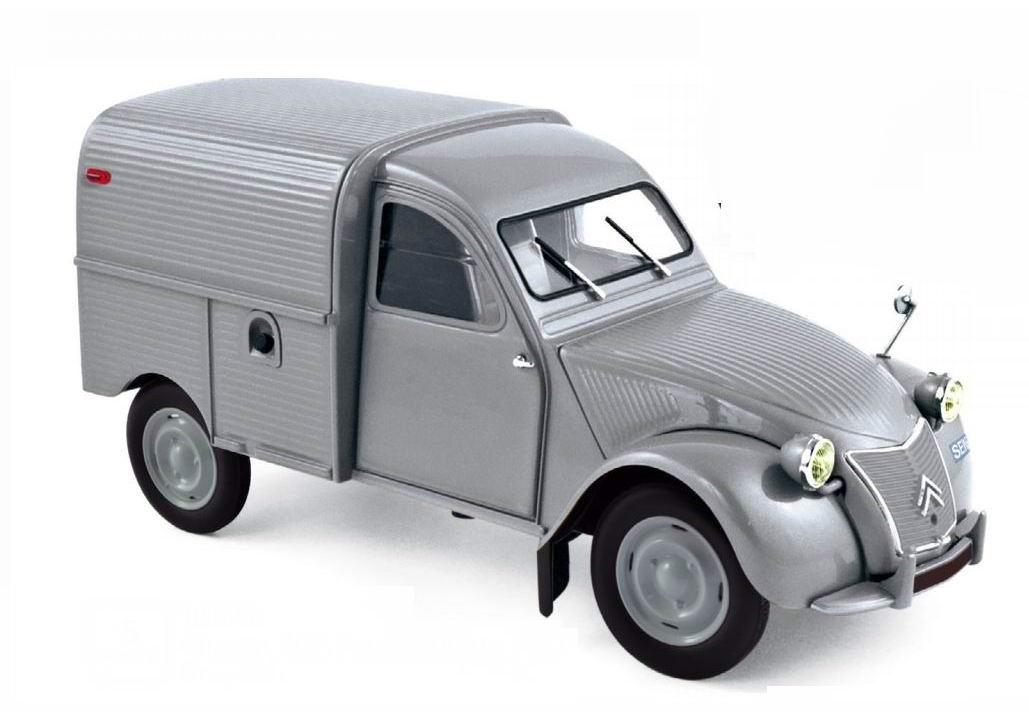 Norev Citroen 2CV Fourgonnette Grise 1957 1//18