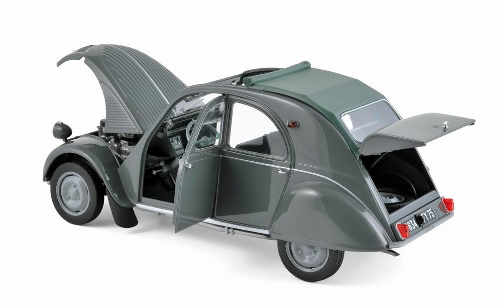 voiture miniature CITROEN 2CV AZL Malle Bombée 1957 1/18 NOREV
