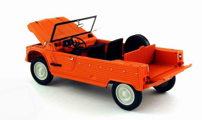 Petite voiture CITROEN Méhari 4X2 Orange 1/18 NOREV