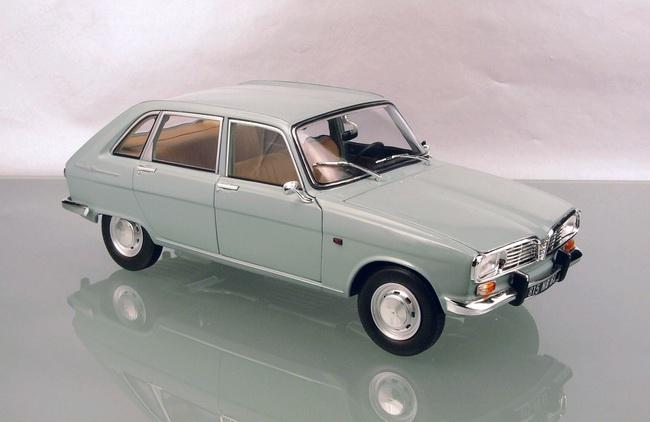 Voiture miniature R16 RENAULT 16 SUPER Bleu Clair 1965 1/18 Norev