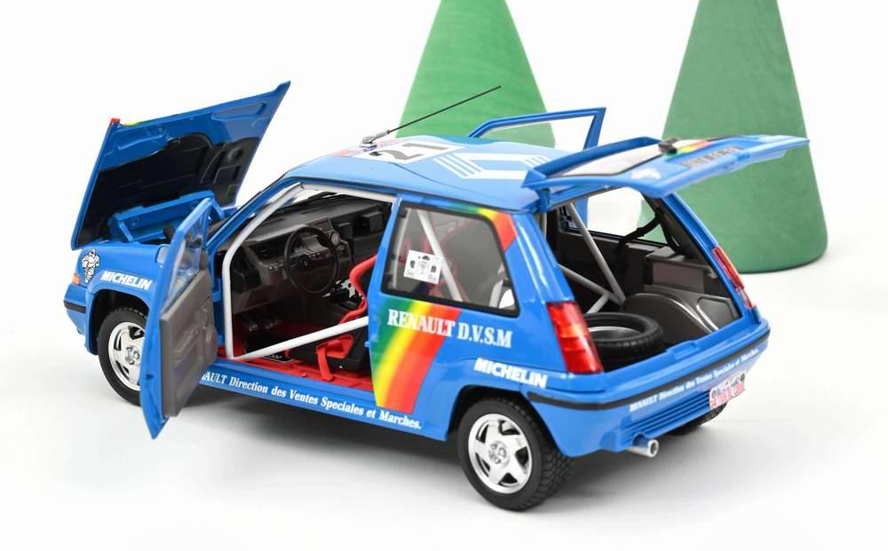 Voiture miniature RENAULT Supercinq GT Turbo Tour de Corse 1990 CIRINDINI BALESI Norev 1/18