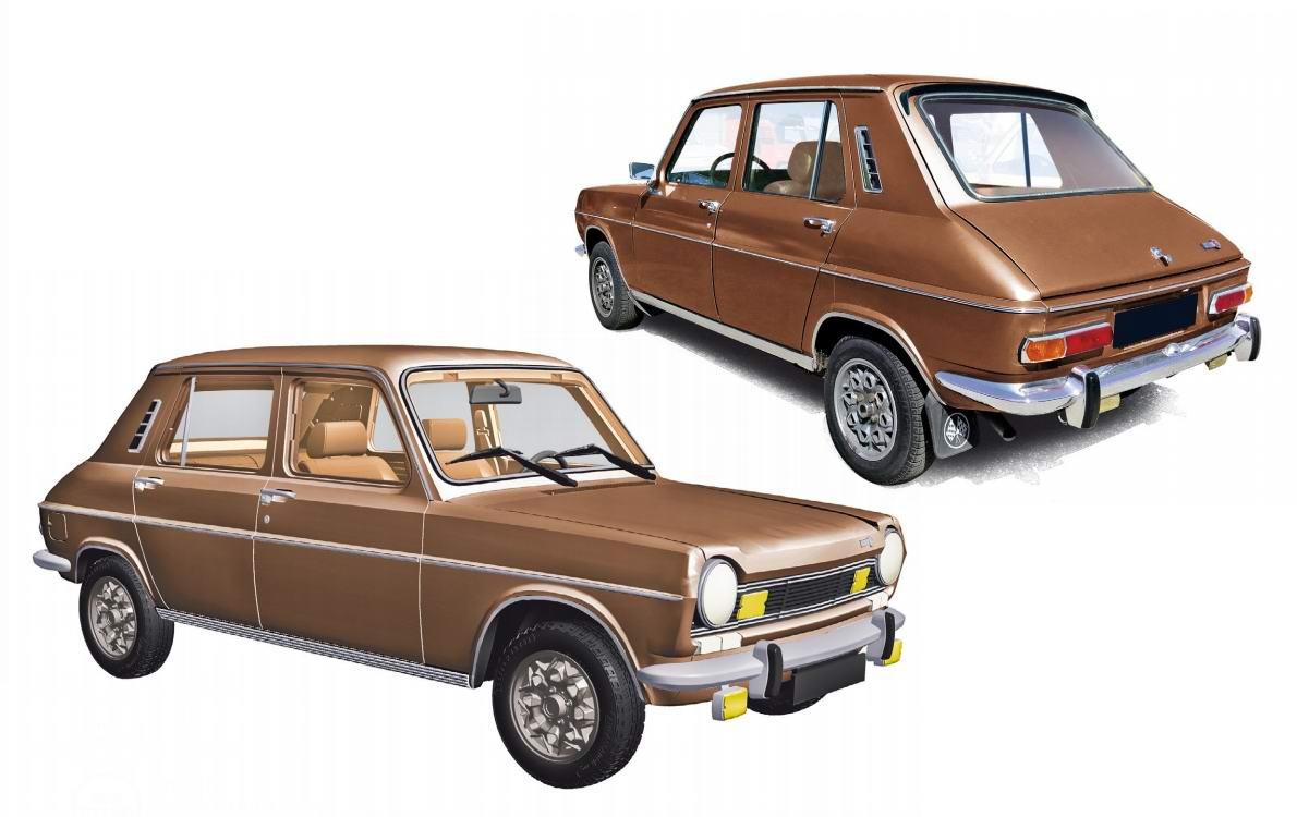 Miniature voiture métal SIMCA 1100 TI 1974 Marron Norev 1/18