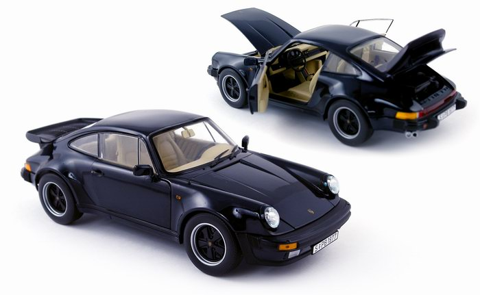 Porsche 930 3.3L Turbo Coupé Dark Blue 1985 NOREV 1/18