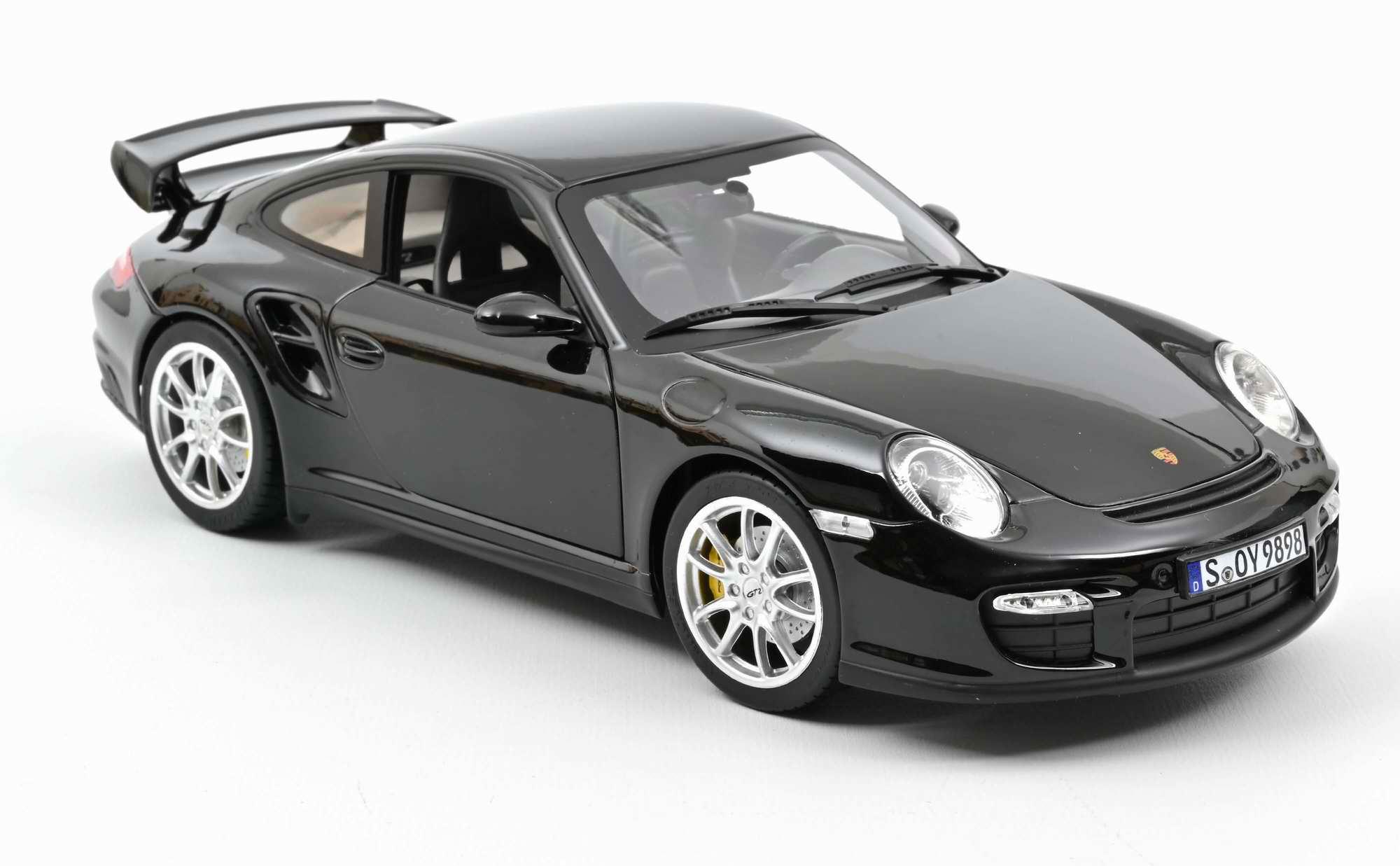 Miniature voiture PORSCHE 911 GT2 2010 - NOIR NOREV 1/18ème