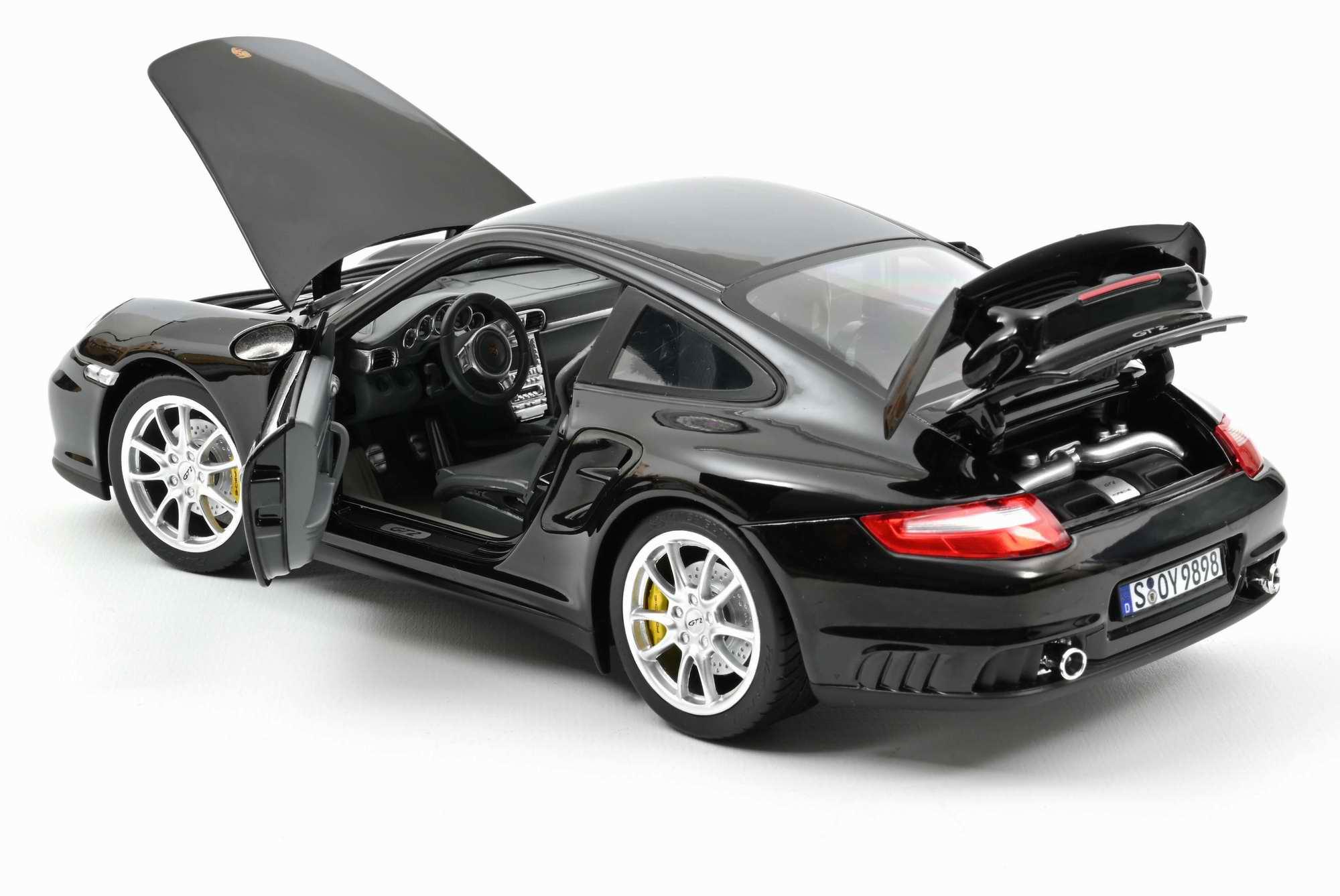 Miniature voiture PORSCHE 911 GT2 2010 - NOIRNOREV 1/18ème