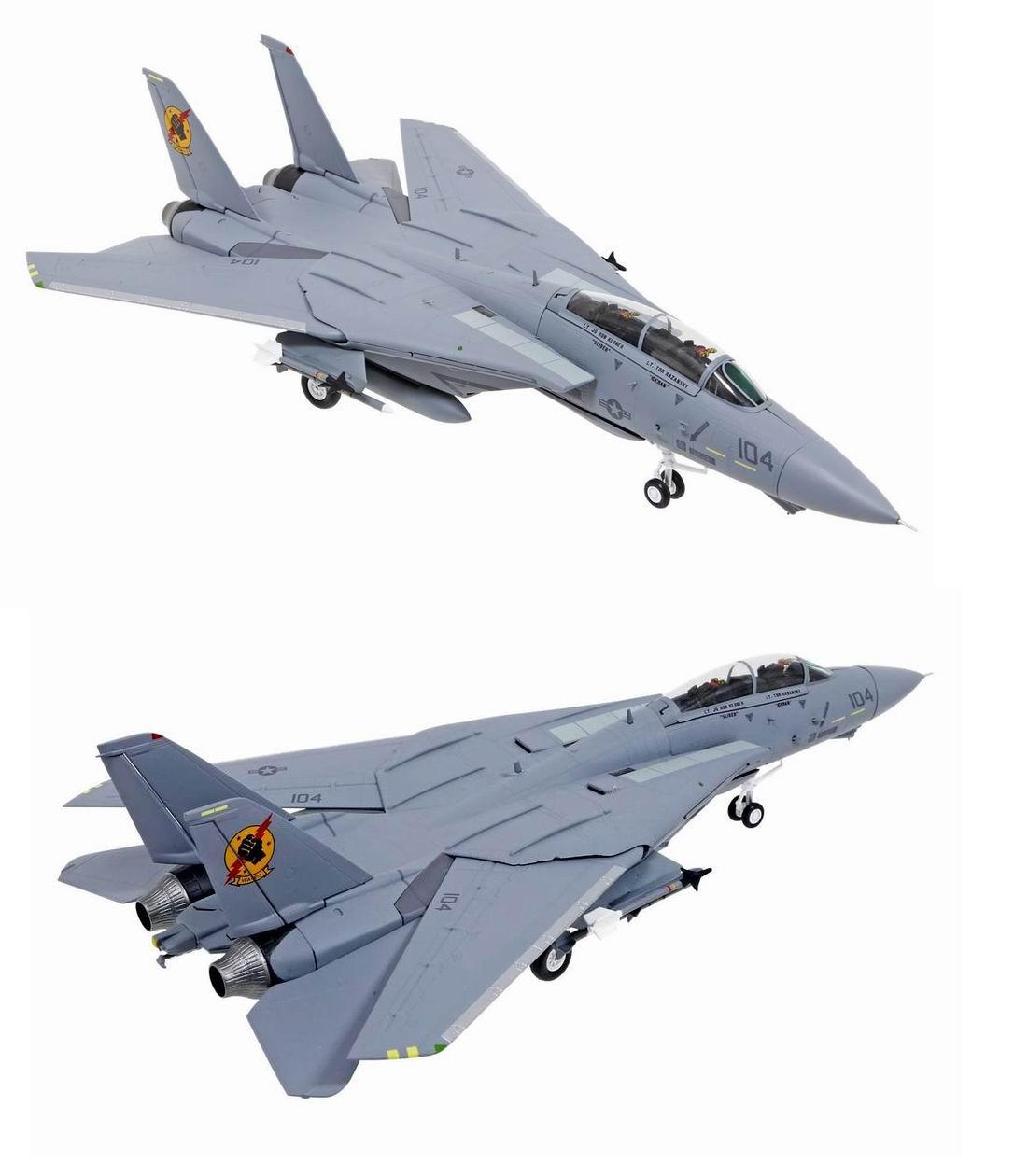 Maquette Avion de combat Grumman F-14A TOMCAT Film TOP GUN Iceman et Slider 1/72