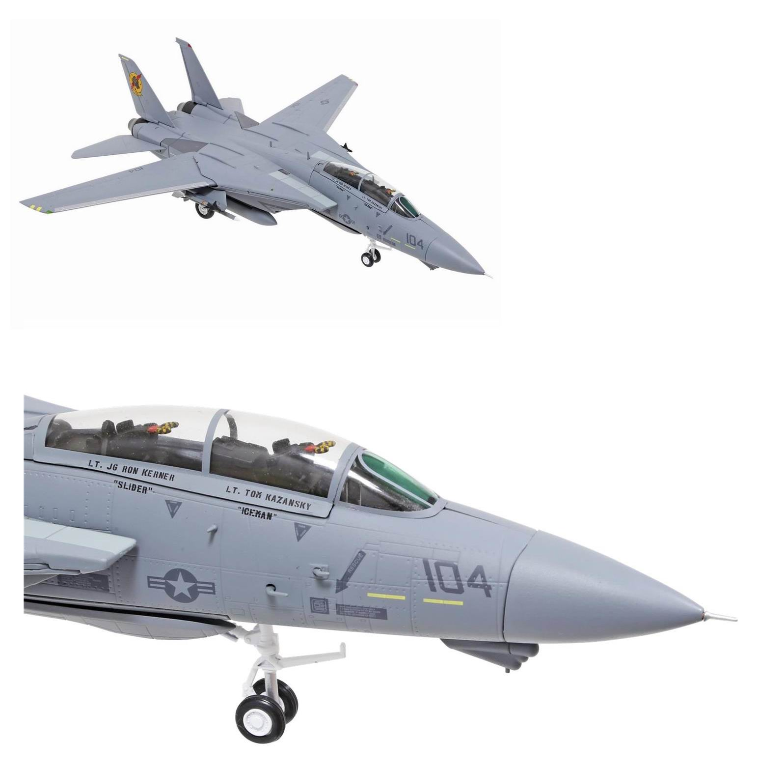 Maquette Avion de Chasse Grumman F-14A TOMCAT Film TOP GUN Iceman et Slider 1/72