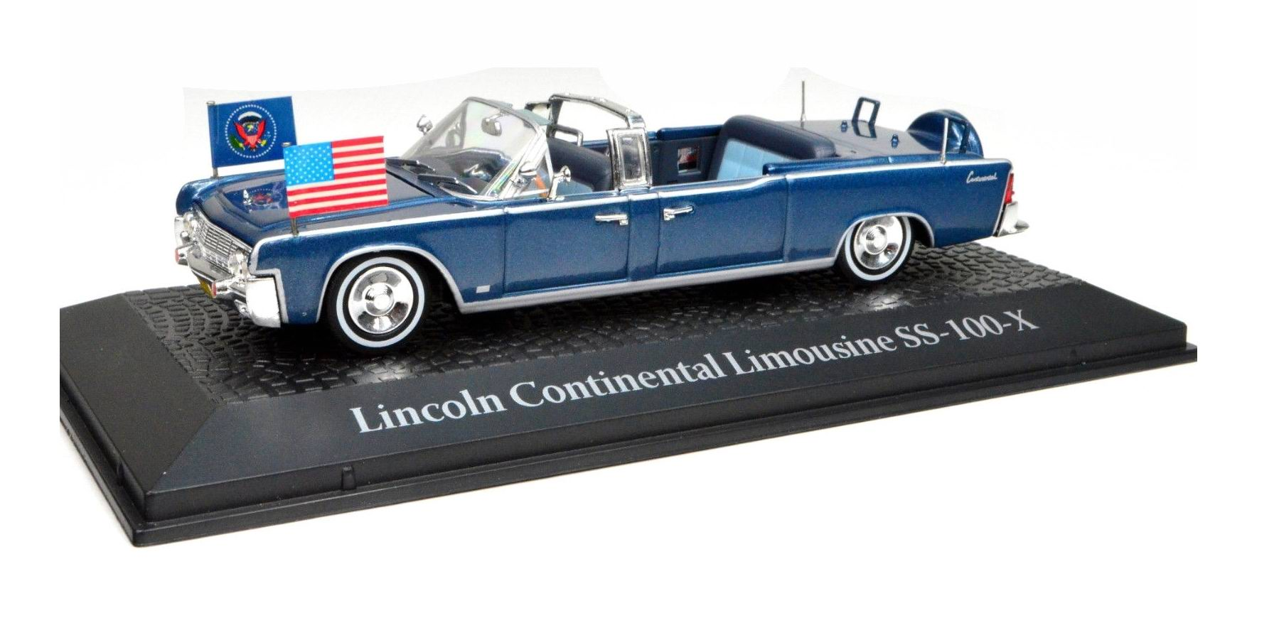 Lincoln CONTINENTAL Cabriolet SS100X Voiture Présidentielle JFK Kennedy 1/43