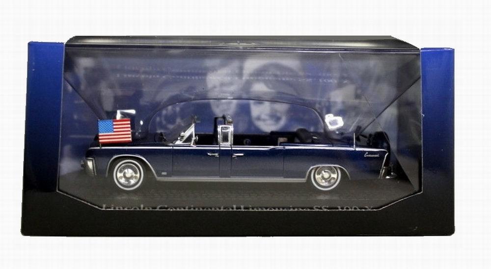 Voiture en métal Lincoln CONTINENTAL SS-100-X Voiture Présidentielle JFK Kennedy 1/43