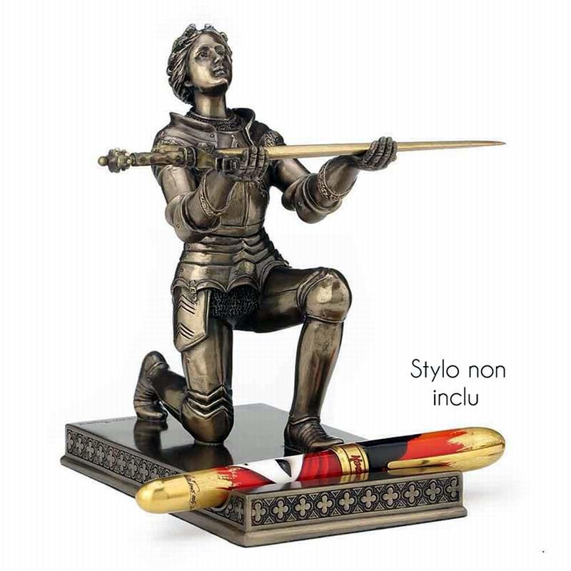 Coupe Papier Ou Ouvre Lettre Jeanne D'Arc en Armure A Genoux Présentant Son Épée