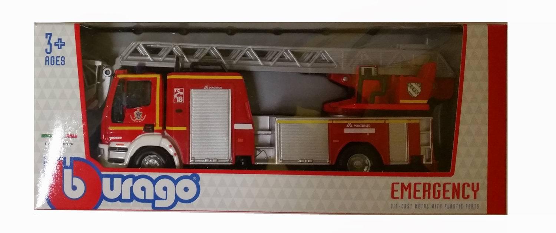 Iveco 150E Camion de Pompiers Grande Echelle MAGIRUS 1/50 Burago