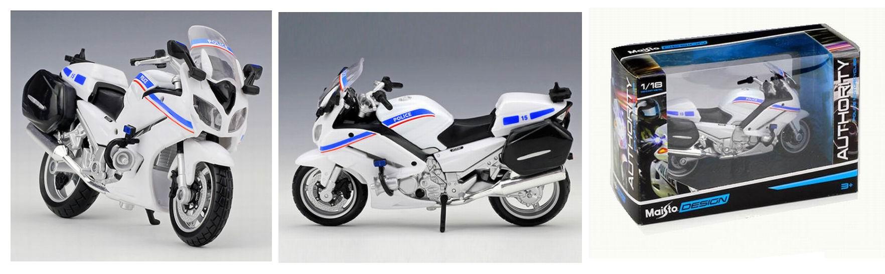 Moto escort POLICE NATIONALE Française Yamaha FJR 1300A 1/18