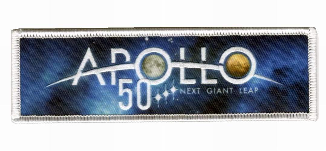 Patch NASA Apollo 50 ans Conquête de la Lune à Mars