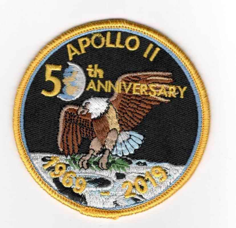 Patch NASA Mission Apollo 11 50 ans anniversaire