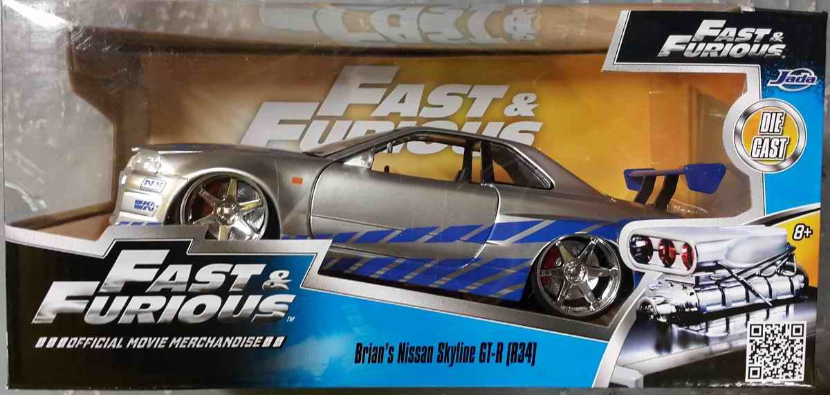 NISSAN Skyline GTR R34 Fast and Furious 1/24ème