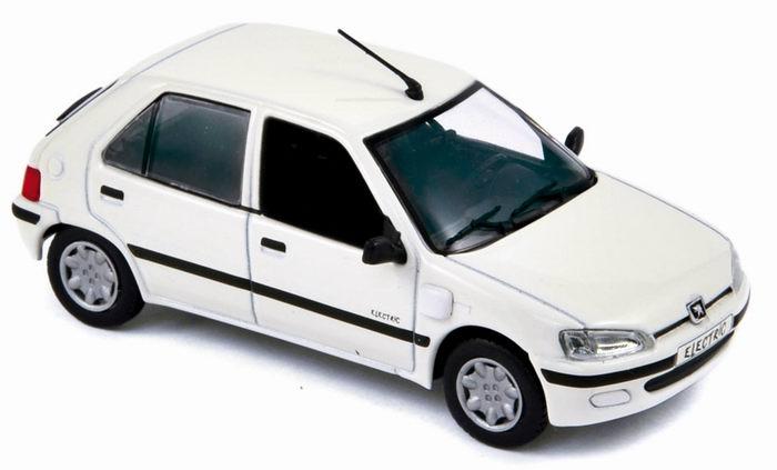 PEUGEOT 106 Electrique de 1997 Blanc Norev 1/43