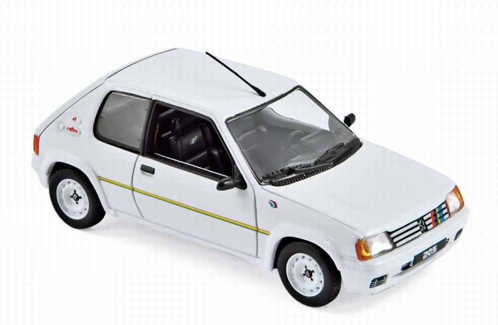 Voiture miniature en métal PEUGEOT 205 Rallye 1988 1/43
