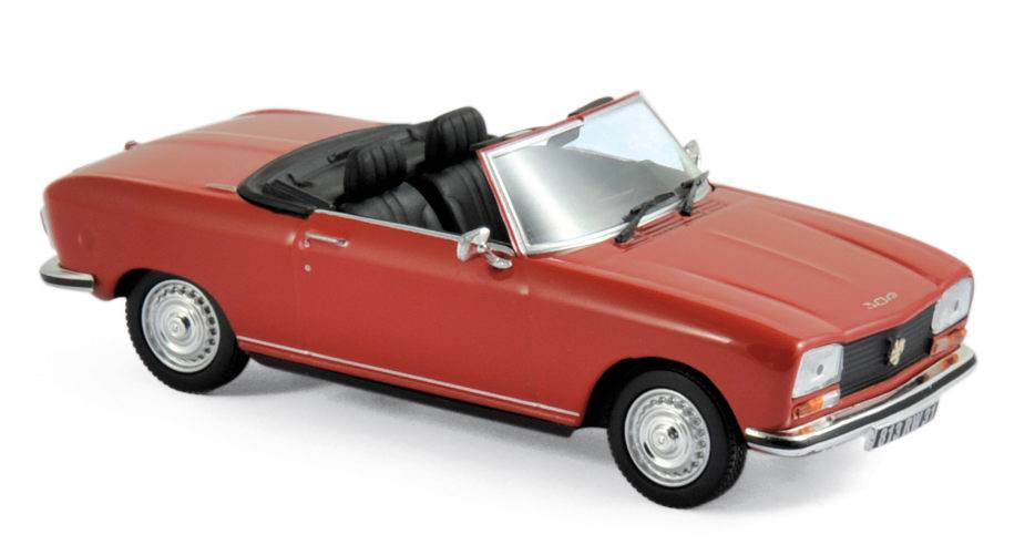 Voiture miniature PEUGEOT 304 S cabriolet Blanc 1973 NOREV 1/43