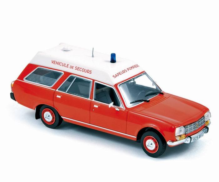 PEUGEOT 504 Pompiers Ambulance 1979 1/43 NOREV
