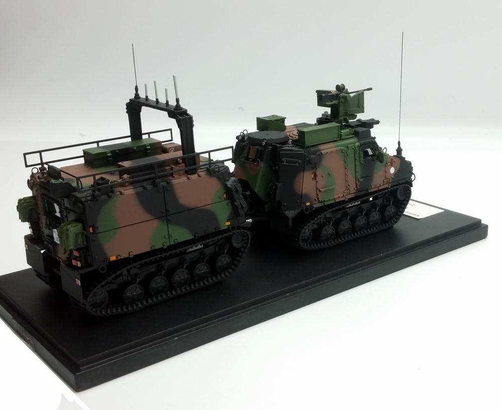 Moddèle miniature Véhicule Haute Mobilité VHM RANG Transport de Troupes Marine 21e RIMa MASTER FIGHTER BY GASO.LINE