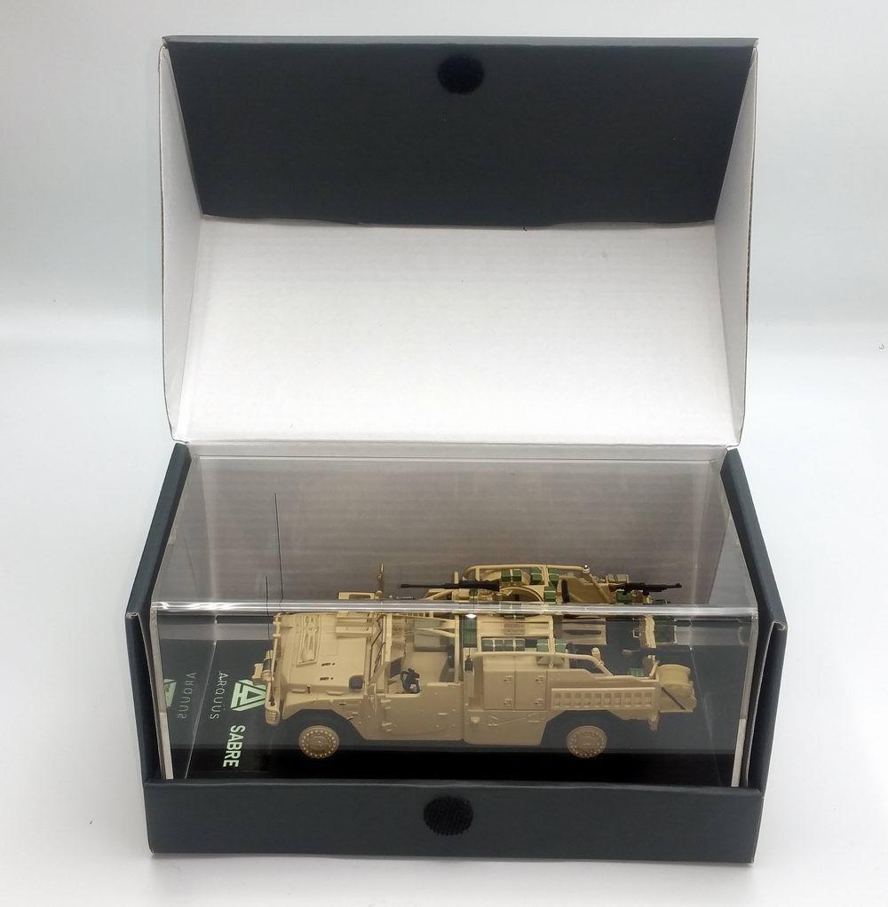 Miniature Voiture RENAULT SHERPA LIGHT PLFS SABRE ARQUUS VEHICULE LOURD DES FORCES SPECIALES 1/48 MASTER FIGHTER BY GASO.LINE