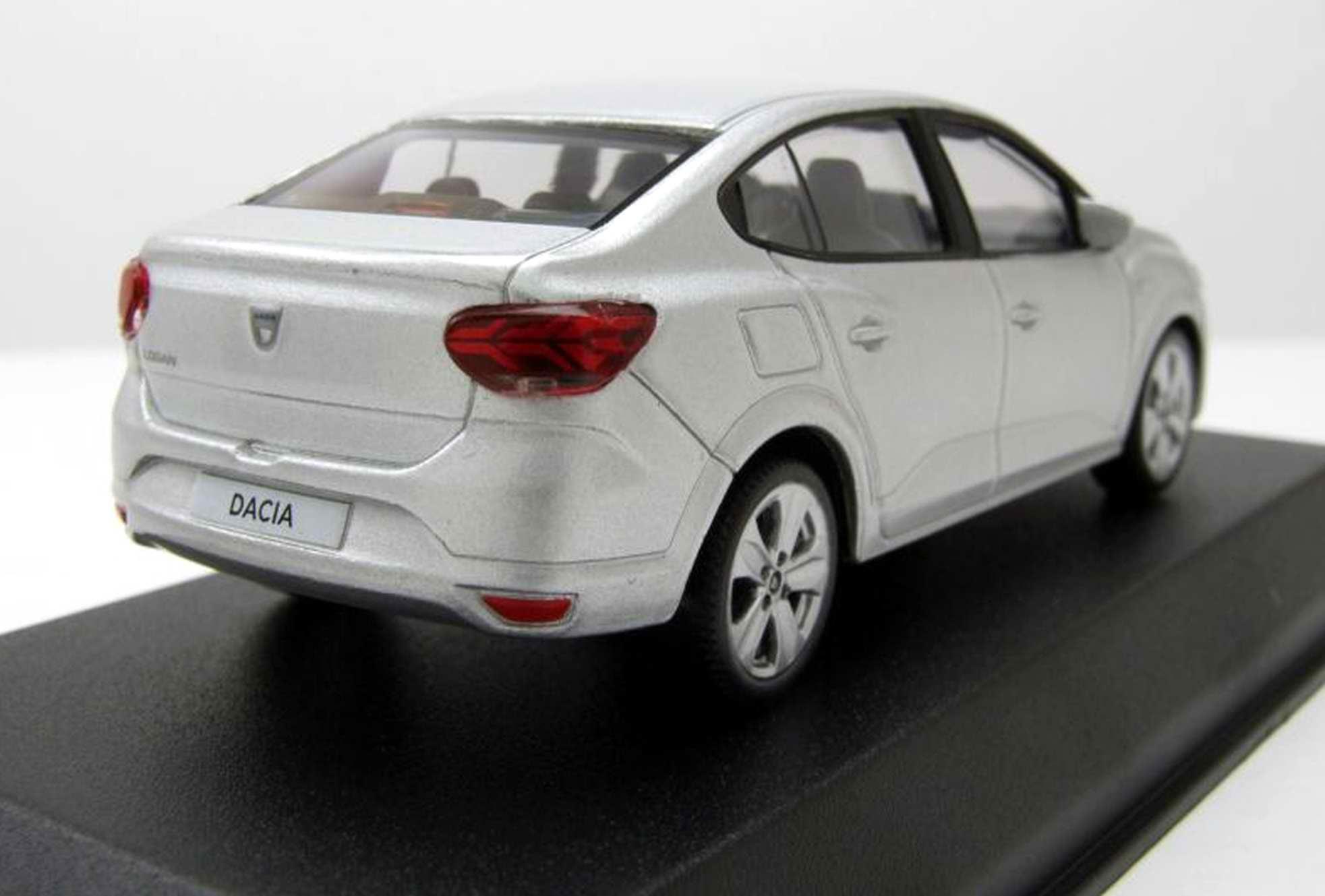 Voiture miniature Dacia Logan 2018 gris highland NOREV 1/43