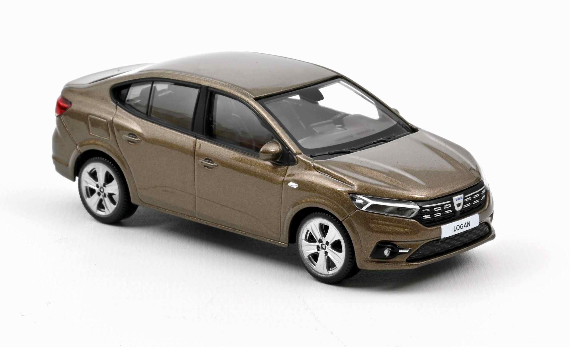 Voiture miniature Dacia logan 2021 marron vison NOREV 1/43