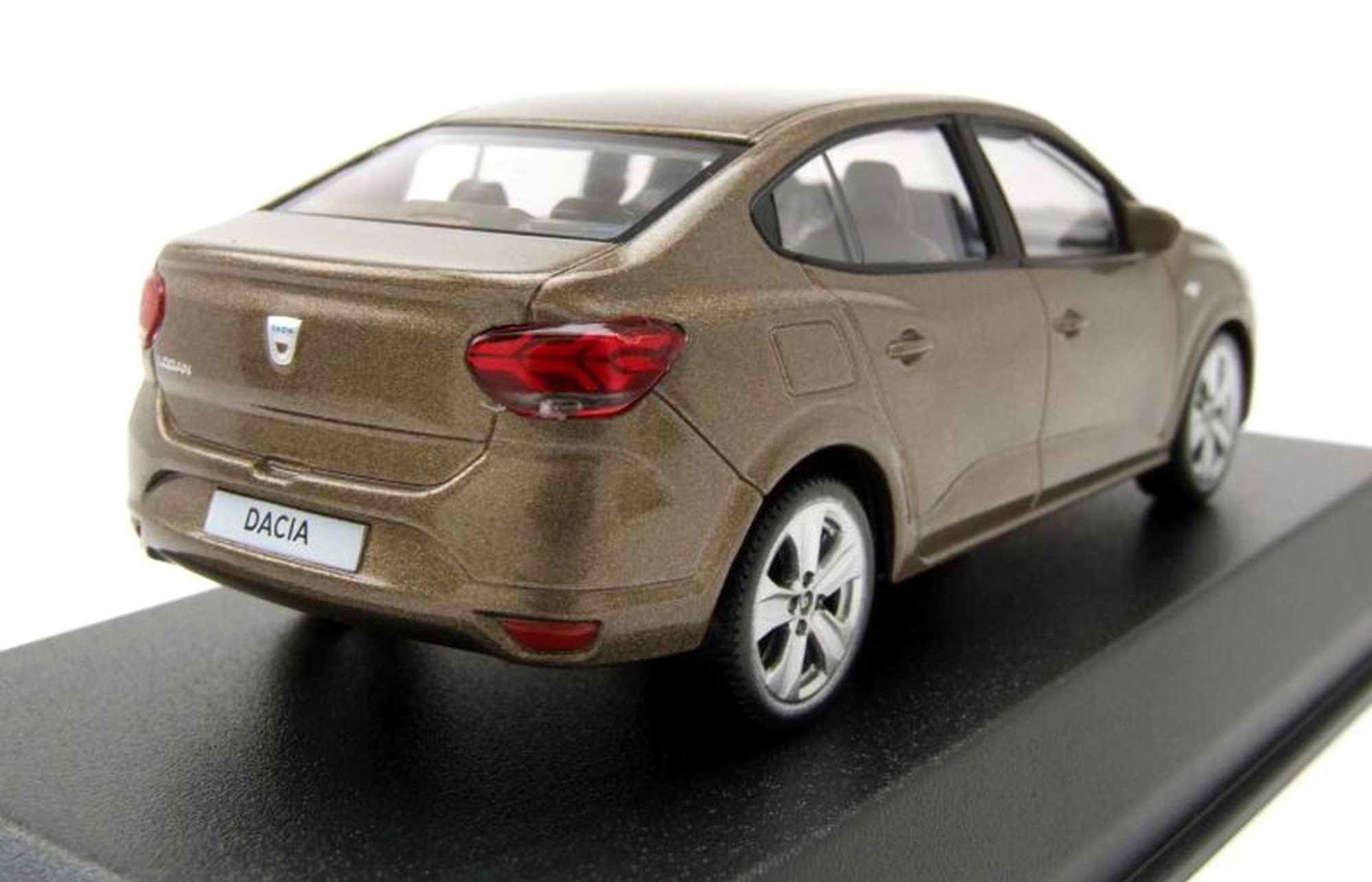 Voiture miniature Dacia Logan 2018 marron vison NOREV 1/43