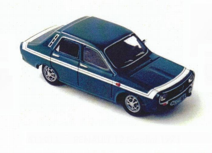 Voiture miniature Renault 12 Gordini R12 Norev 1/43