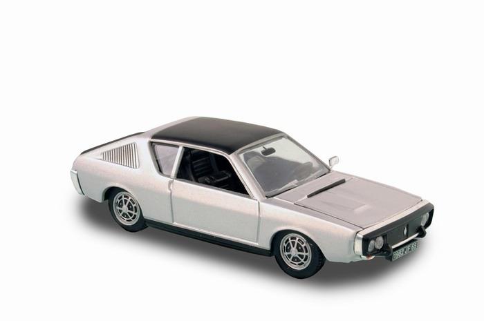 Voiture miniature R17 RENAULT 17 gris métal 1974