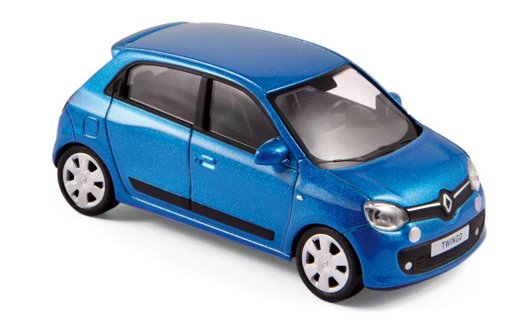 Miniature RENAULT Twingo 3 2014 Bleu NOREV 1/43