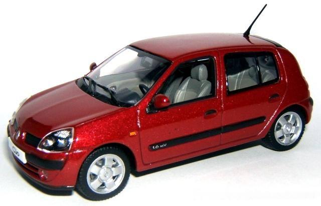 Voiture miniature Clio 2 1.6V 16V Privilege 5 portes Rouge cerise NOREV 1/43