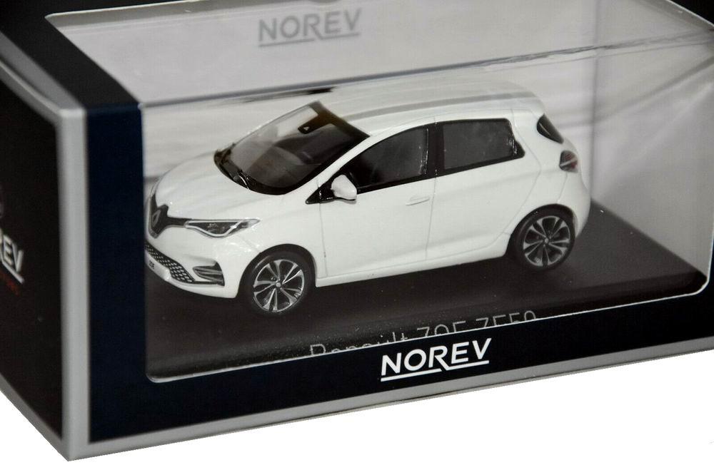 Voiture miniature RENAULT ZOEZE50 électrique 2020 NOREV 1/43