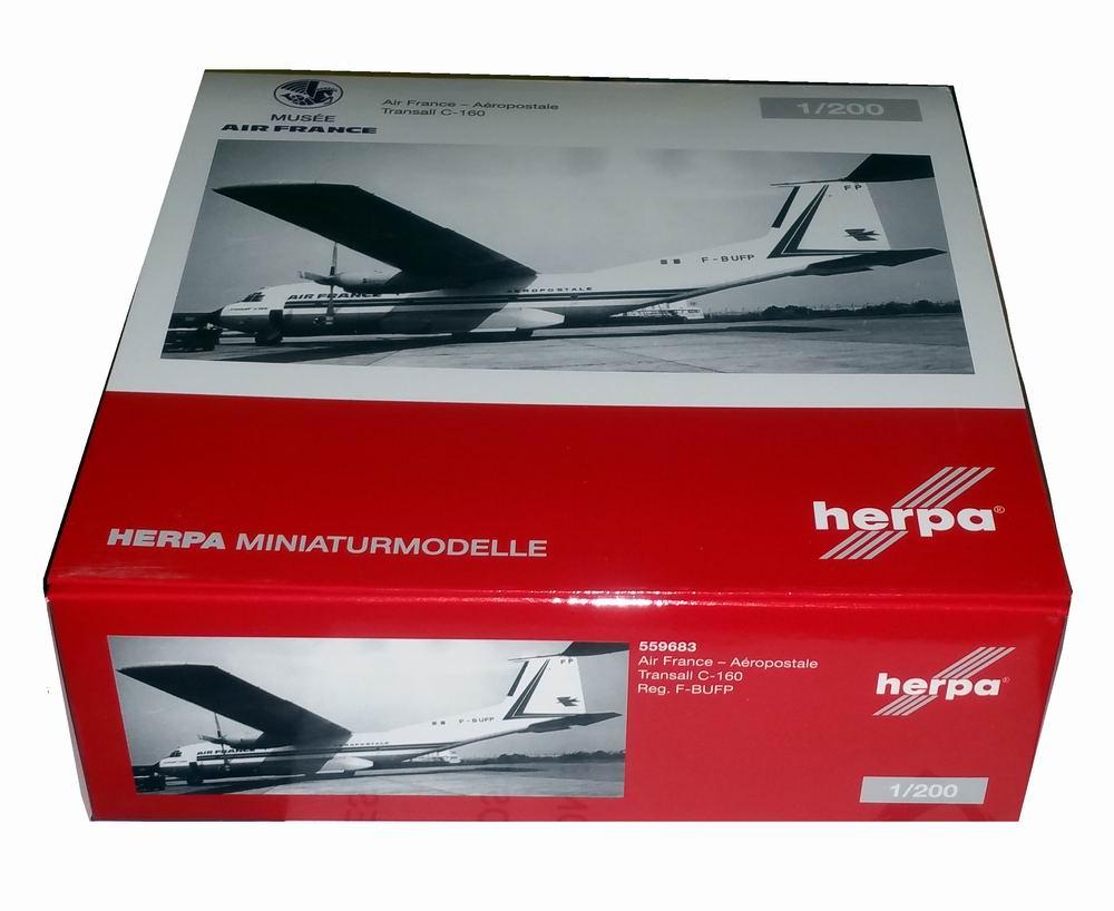 Maquette C-160transall Air France - Aéropostale 1/200