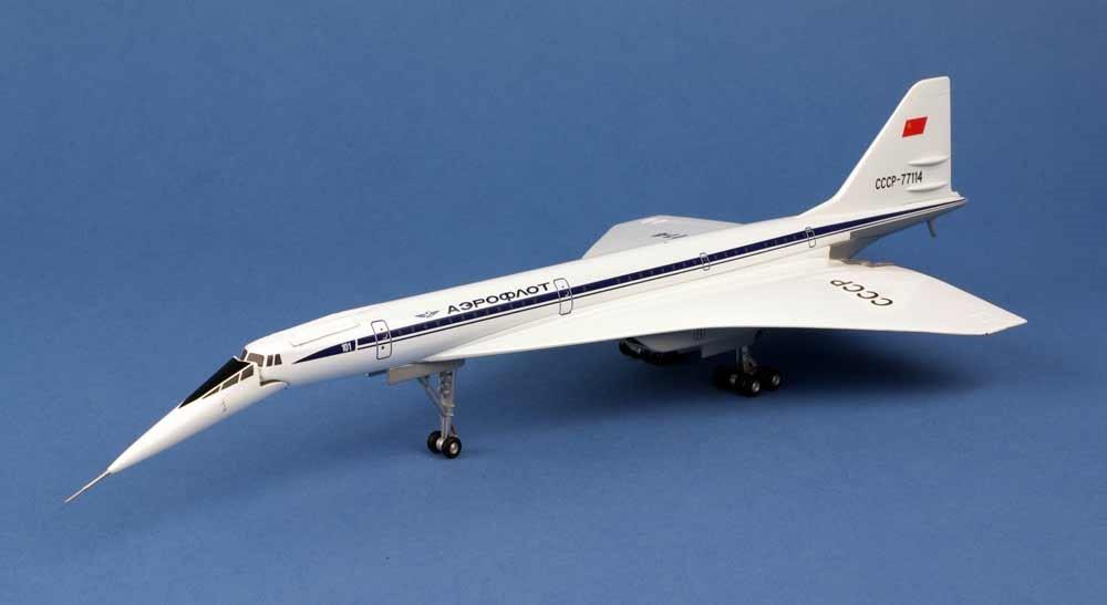Maquette Tupolev TU-144D CCCP77114 Herpa 1/200