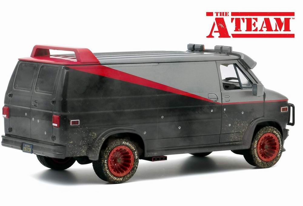Camionette Agence Tous Risques sale impact balle 1/24 Greenlight