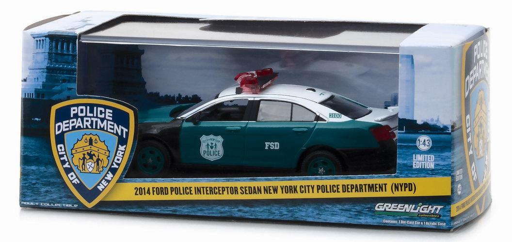 Voiture en métal FORD POLICE INTERCEPTOR SEDAN NYPD Newyork police