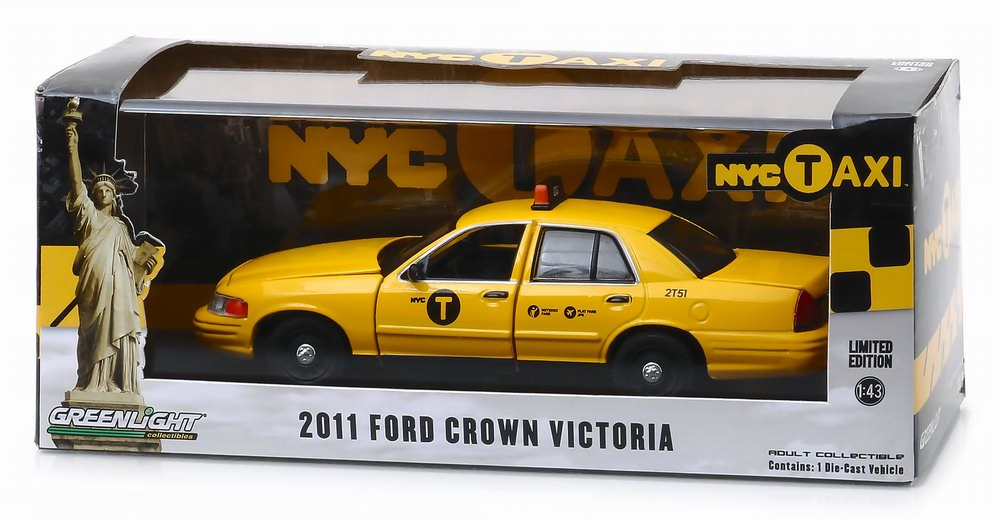 Voiture FORD CROWN VICTORIA 2011 TAXI NYC NEWYORK CITY 1/43