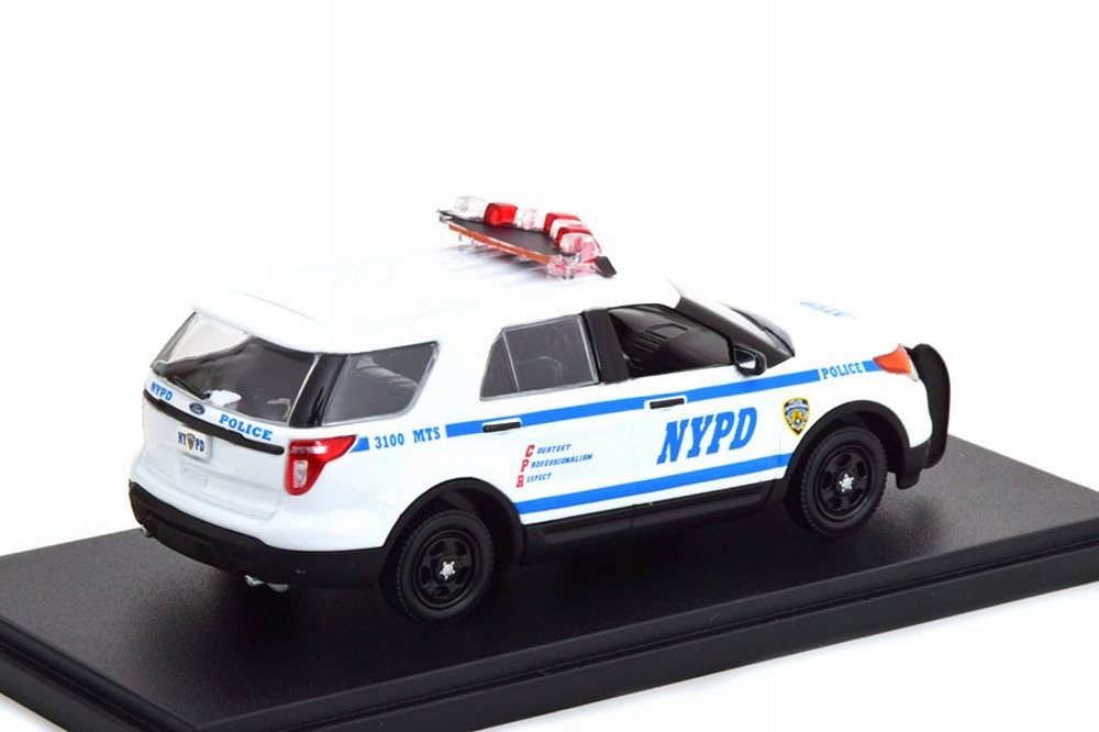 Miniature Voiture FORD POLICE INTERCEPTOR UTILITY 2013 NYPD NEW YORK POLICE DEPARTMENT 1/43